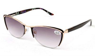 Готовые женские диоптрийные очки Verse 1748S-C2 Тонированные