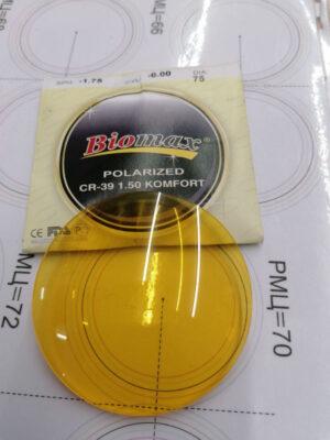 Полимерная линза Biomax для водителей (антифара+поляризация)