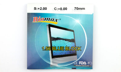 Полимерная линза Biomax HMC EMI UV Blue Block