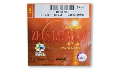 Линза полимерная асферическая ZEUS UV400I инд.1,67 AS-X
