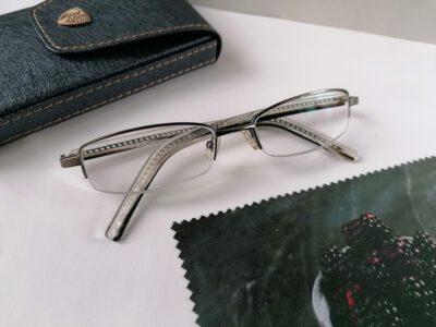 Женские полуободковые очки +3,00 с межцентровым расстоянием 58мм