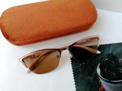 Женские тонированные полуободковые очки +1,00 с межцентровым расстоянием 62мм (стекло тонированное)