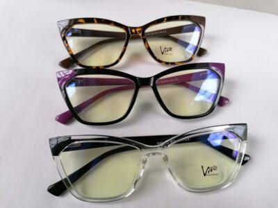 Женская пластиковая оправа VIVA 2040 в стиле Fendi в трех цветах