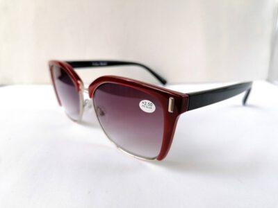 Женские диоптрийные тонированные очки Fabia Monti +2,50 в стиле PRADA