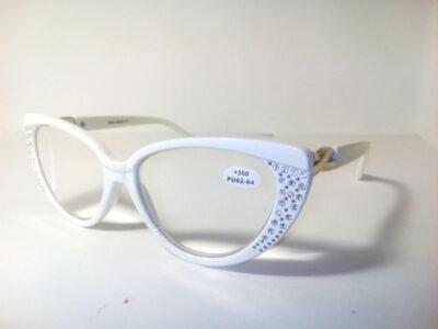 Женские готовые очки Fabia Monti +3,50 с межцентровым расстоянием 62-64мм в белом цвете