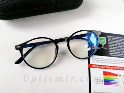 модные круглые компьютерные очки Bluelight 8539-C2