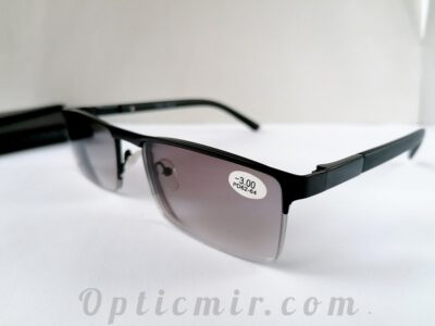 Мужские тонированные очки Fabia Monti FM195-C6 с диоптрией -3,00