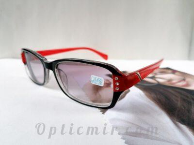 тонированные женские очки -3,00 с межцентровым расстоянием 62-64мм