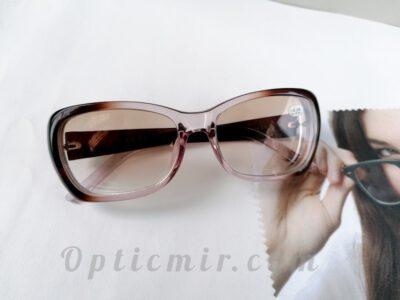 тонированные женские очки -6,00 с межцентровым расстоянием 62-64мм