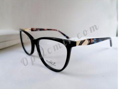 Женская пластиковая оправа Velena 7002-C01 в черном глянце